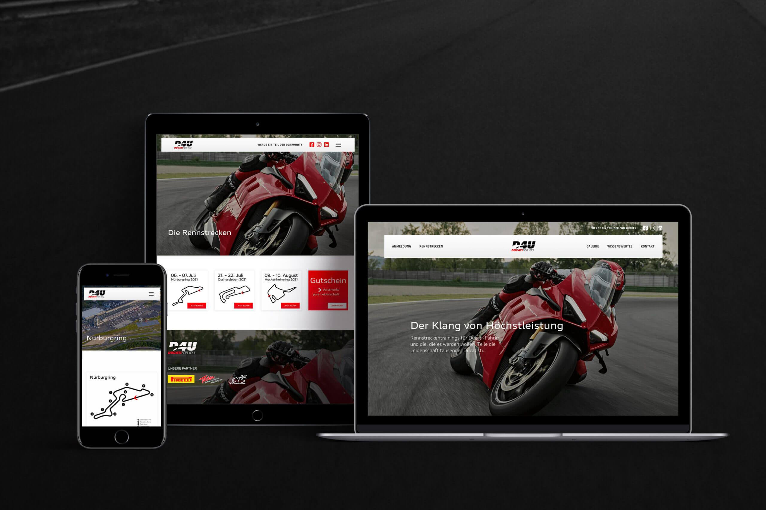 Relaunch der Eventplattform für Rennstreckentrainings und Fahrerlebnisse